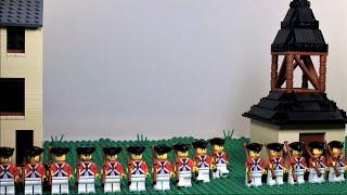 Lego Battle of Lexington American Revolution - stop motion