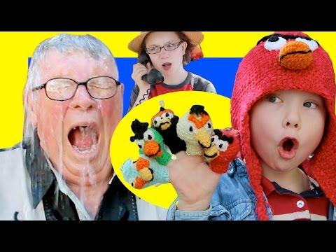 Epic Five Little Monkeys, Angry Birds-Style w Red, Chuck, Bomb, Green Bird, Blues ~PlayBuddies