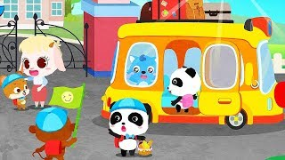 Baby Panda's School Camping Trip - Fun Puzzles Games For Children