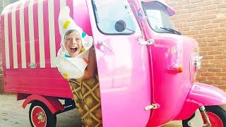 Ali and Adriana Play fun with Yummy Ice Cream Favorite Toys and Truck, Funny Stories for kids