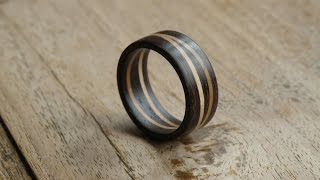 Woodturning - Double maple ring