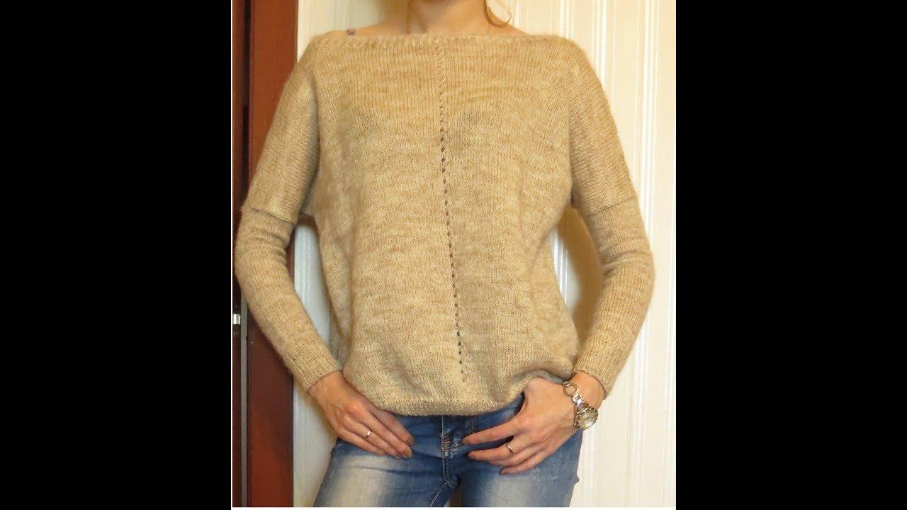 Вязание спицами свитера для начинающих мастер класс 60