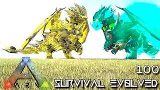 ARK: SURVIVAL EVOLVED - DOUBLE DRAGON EMPEROR & BAHAMUT E100 !!! ( ARK EXTINCTION CORE MODDED )