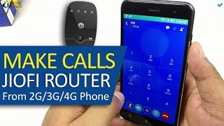 How to make Phone Calls using JioFi 2 Router (Jio 4G) on any 2G/3G/4G smartphone (Jio Join)