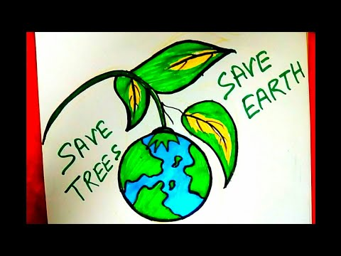 Save Water Save Future Easy Drawing For World Water Day Step By