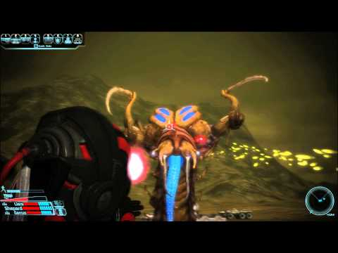 Mass Effect 1 - Thresher Maw on foot - Adept Insanity-