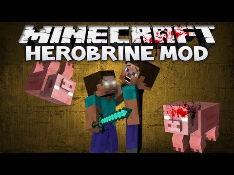 Minecraft: Herobrine mod - HEROBRINE IS REAL ERMERGEHRD! (Minecraft 1.4.6 mod showcase)