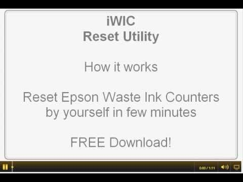 iWIC - Waste Ink Pad reset utility for Epson printers. MAC OS. FREE download