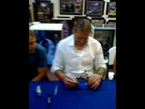Tags: Jeremy Shockey Saints Mcfarlane signing Who Dat tattoo Monroe La Giants fight joke superbowl XLIV champions