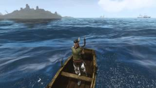 Scar Sets Sail in a rowboat