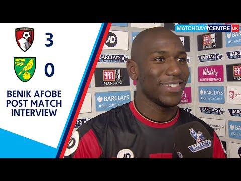 Bournemouth 3-0 Norwich City : Benik Afobe Interview