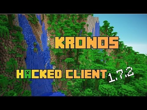 Minecraft : 1.7.2 - 1.7.5 + Hacked Client - Kronos - Full Tutorial & Review
