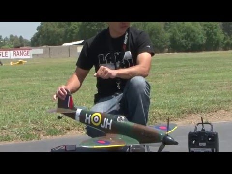 Art Tech Spitfire Scale RTF 2.4ghz RC Warbird Flight Review! Awesome Performance!