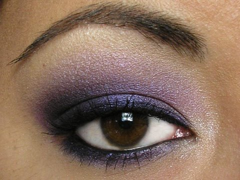 Purple Smokey Eye eyeshadow look Re-visitied