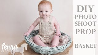 DIY Cheap Chalk Paint Basket for Newborn & Baby Photography