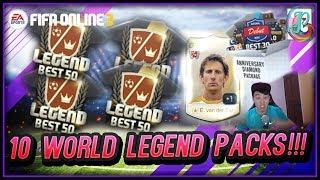 ~Opening 10 World Legend Packs!!~ Anniversary Diamond Package Opening - FIFA ONLINE 3