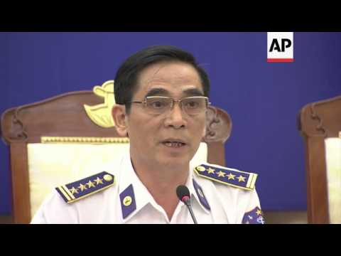News conf on clases between Chinese and  Vietnamese ships over new oil rig