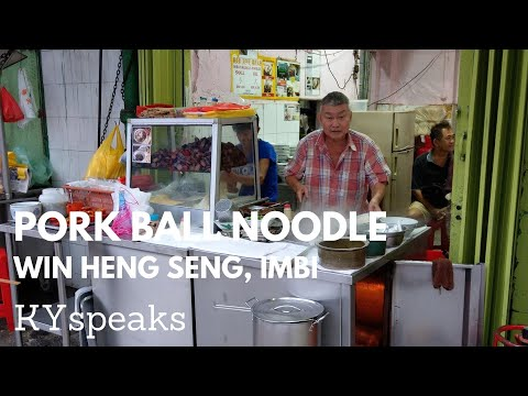 KY eats - Pork ball noodle at Imbi