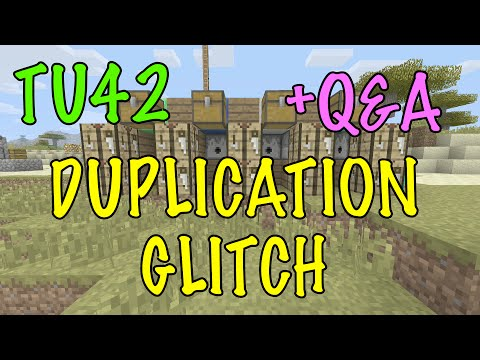 Minecraft Xbox / PS TU42 DUPLICATION GLITCH - TUTORIAL - WORKING AFTER PATCH Questions+Answers TIPS