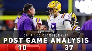 2019 SEC Championship Post Game Analysis: #4 Georgia vs #2 LSU | CBS Sports HQ