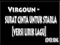 Surat Cinta Untuk Starla - Virgoun [Lirik Lagu]