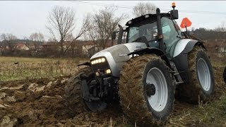 Deep Plowing with Lamborghini R8.265 Tillage 2 Furrow