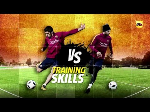 Luis SUÁREZ VS Gerard PIQUÉ: SHOTS WITH SWERVE in training. By: FCBarcelona Goals