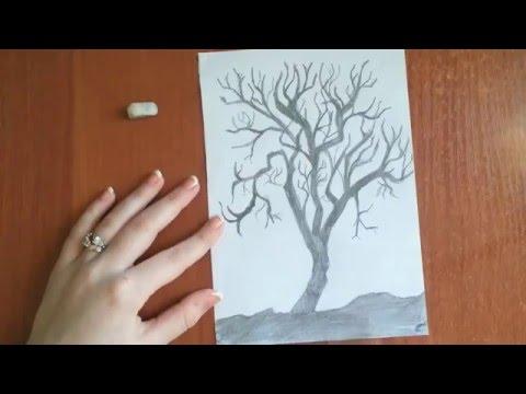 Фото на дереве поэтапно