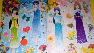 Đồ chơi cho bé gái - Dán hình trang điểm váy đầm cho công chúa - Quyển 2 - Tập 9