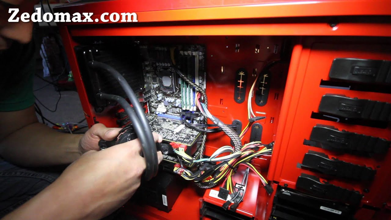 How To Install Cpu Liquid Cooling System Youtube