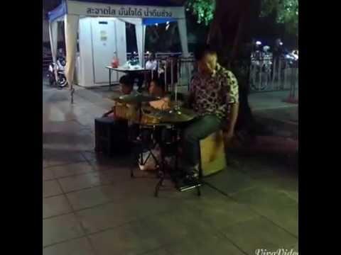 泰國 曼谷 碼頭夜市 街頭歌手 ASIATIQUE THE RIVERFRONT  Singer