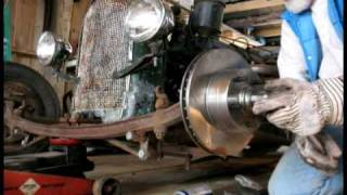Ratrod Disc Brake conversion in a minute and a half!