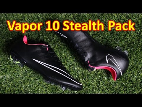 Nike Mercurial Vapor 10 Stealth Pack Black/Hyper Punch - Unboxing + On Feet
