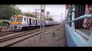 Ultimate Parallel Race Aboard Vivek Express from Borivali to Mira Road, Western Railway !!!