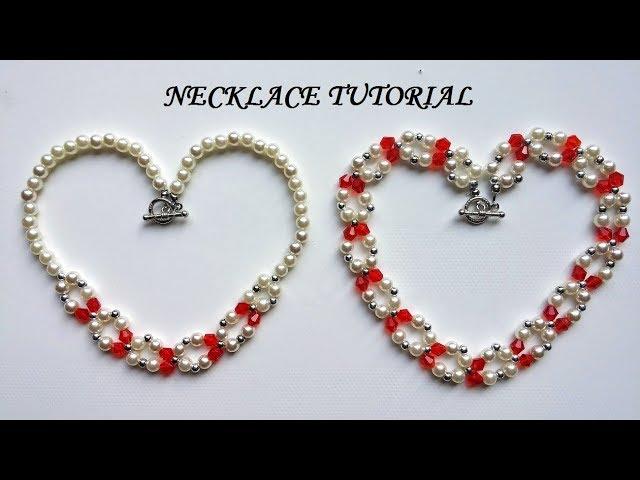 DIY jewelry gift idea. Necklace tutorial. Elegant jewelry making. Handmade jewelry.