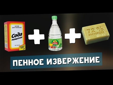 УКСУС+МЫЛО+СОДА=ПЕННЫЙ ВЗРЫВ! Крутой эксперимент! Зубная паста для слона!