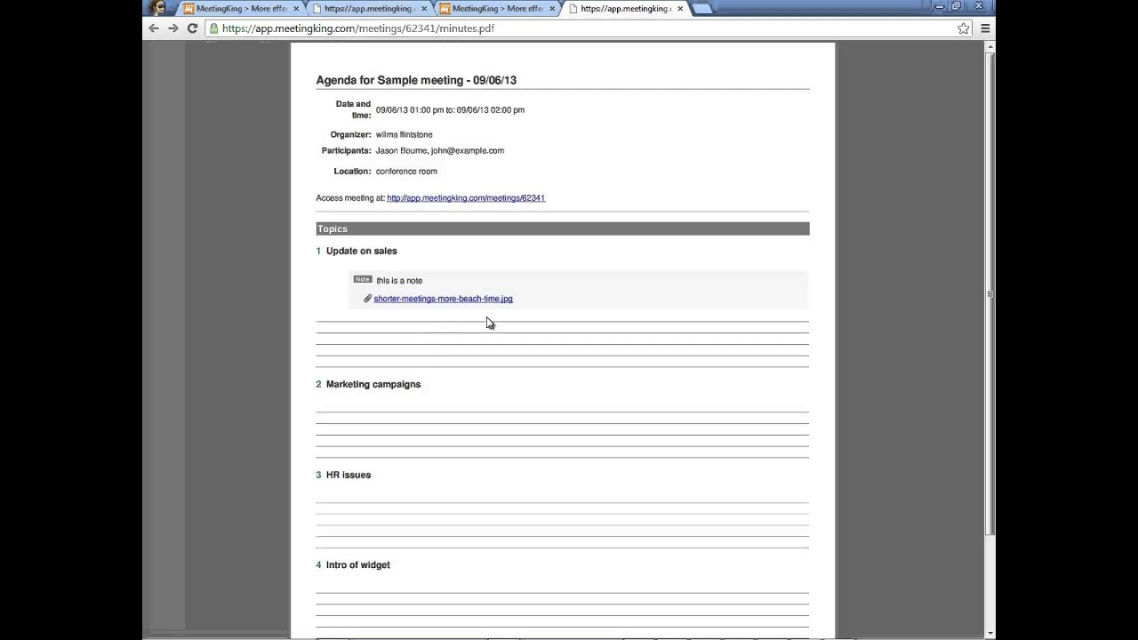 minute template meeting agenda – Meeting Minutes Templates Free