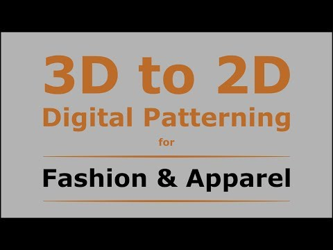 3D to 2D Digital Patterning for Apparel From Optitex 3D dress design. (Part 1)