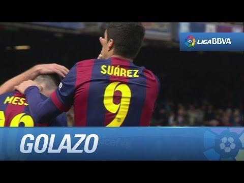 Golazo de Luis Suárez (6-1) en el FC Barcelona - Rayo Vallecano