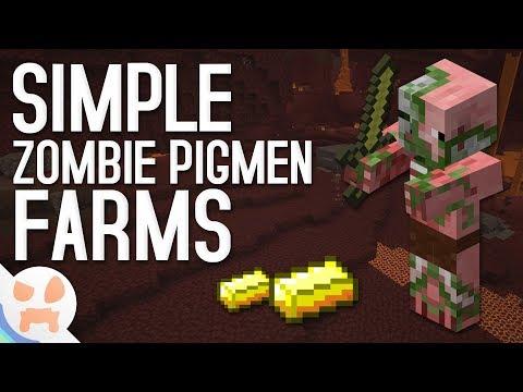 3 SIMPLE Zombie Pigmen Farms! | All Versions