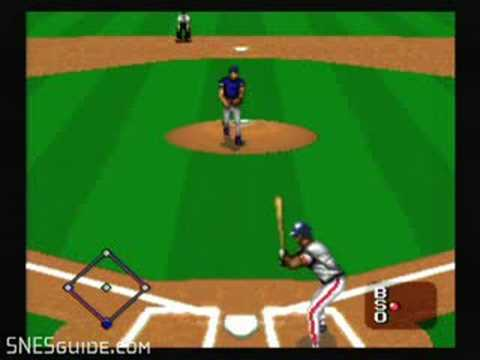 MLBPA Baseball - SNES Gameplay