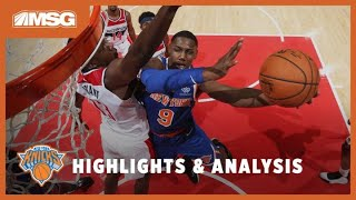 RJ Barrett & Marcus Morris Impress Big Time In Knicks Preseason Opener | New York Knicks