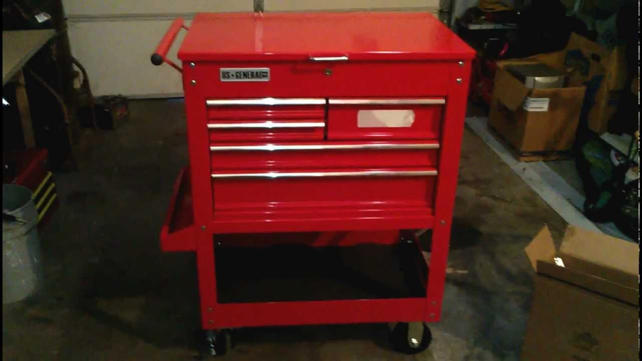 harbor freight 5 drawer tool cart reveiw and walk around youtube. Black Bedroom Furniture Sets. Home Design Ideas