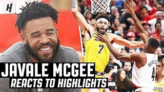 JaVale McGee Reacts To JaVale McGee Highlights!