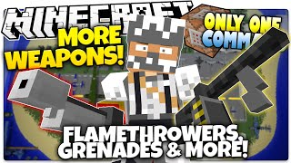 Minecraft | MORE WEAPONS | Machine Gun, Flamethrower, & More! (Minecraft Custom Command)