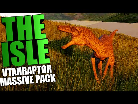 The Isle - UTAHRAPTOR, MASSIVE PACK HUNTING, PROGRESSION (The Isle Funny Moments Gameplay)