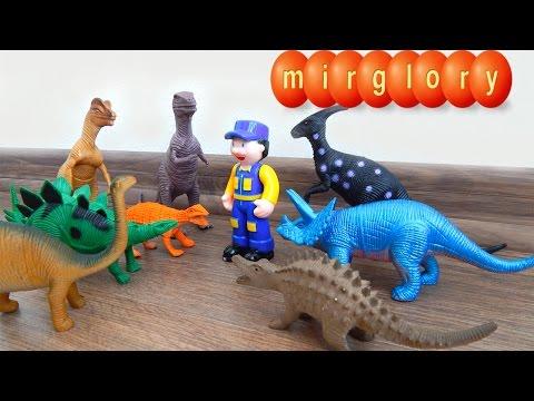 Мультфильмы про машинки - Динозавры и Грузовичок - Видео для детей про машинки игрушки mirglory