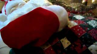 I found Santa Claus snoring Jingle Bells!!!