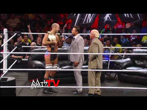 Ric Flair appears on Miz TV: Raw, Jan. 14, 2013