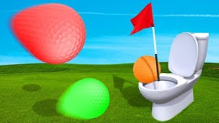 PLAYING GOLF IN A TOILET?! (Golf It)
